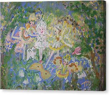 Snowdrop The Fairy And Friends Canvas Print by Judith Desrosiers