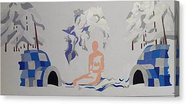 Canvas Print featuring the painting Snowed by Erika Chamberlin