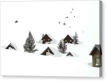 Snowed In Canvas Print by Gareth Davies