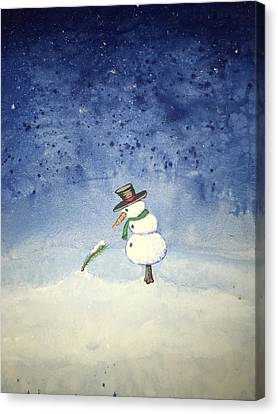 Snowfall Canvas Print by Antonio Romero