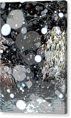 Snowfall Deconstructed Canvas Print by Li Newton