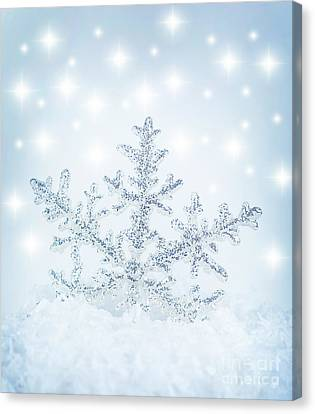 Snowflake Background Canvas Print