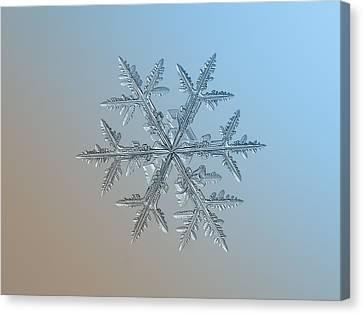 Canvas Print featuring the photograph Snowflake Photo - Asymmetriad by Alexey Kljatov