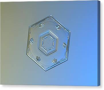 Snowflake Photo - Cryogenia Canvas Print