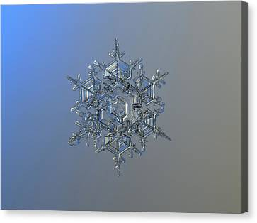 Snowflake Photo - Crystal Of Chaos And Order Canvas Print