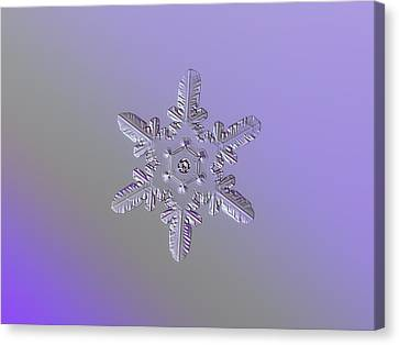 Snowflake Photo - Heart-powered Star Canvas Print by Alexey Kljatov