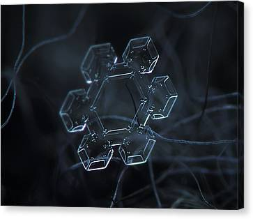 Snowflake Photo - Jewel Canvas Print by Alexey Kljatov