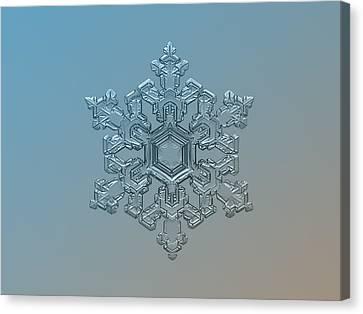 Snowflake Photo - Ornate Pattern Canvas Print