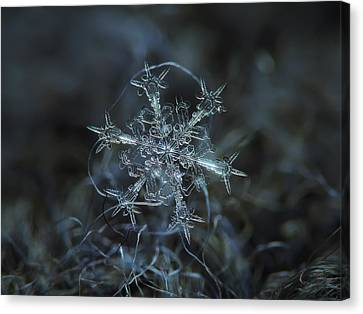 Snowflake Photo - Starlight Canvas Print