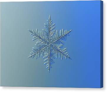 Canvas Print featuring the photograph Snowflake Photo - Winter Is Coming by Alexey Kljatov