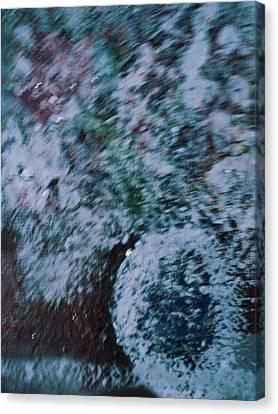 Snowglobe Gone Wild Blue Canvas Print by Anne-Elizabeth Whiteway