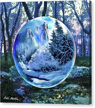 Celestial Canvas Print - Snowglobular by Robin Moline