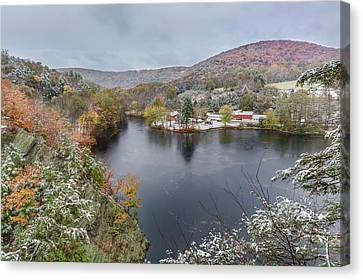 Canvas Print featuring the photograph Snowliage by Bill Wakeley