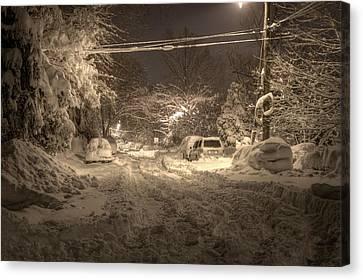 Snowmageddonhdr Canvas Print by Kevin Parsons