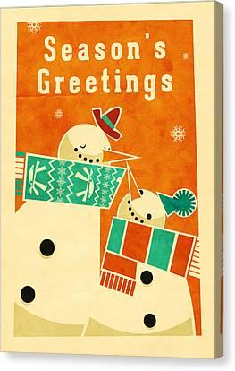 Snowman 5 Canvas Print by Daviz Industries