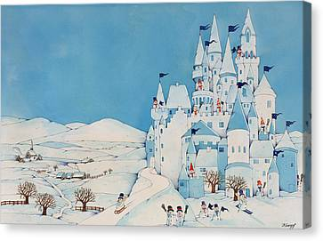 Snowman Castle Canvas Print by Christian Kaempf