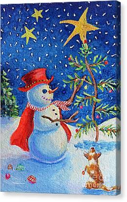 Snowmas Christmas Canvas Print by Li Newton