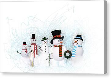 Snowmen Canvas Print by Methune Hively