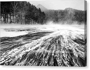 Canvas Print featuring the photograph Snowstorm by Hayato Matsumoto
