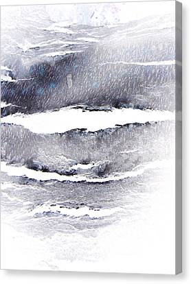 Canvas Print featuring the photograph Snowstorm In The High Country by Lenore Senior