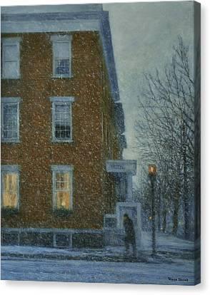 Snowstorm On Albany Street Canvas Print
