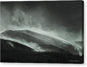 Snowswept Mountain Top Canvas Print by Brian Gustafson