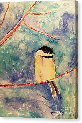Canvas Print - Snowy Bird by Tina Sheppard