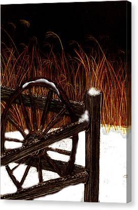 Snowy Break Canvas Print by Michelle Audas