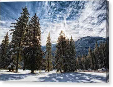 Snowy Clouds Canvas Print by Charlie Duncan