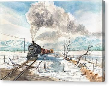 Snowy Crossing Canvas Print