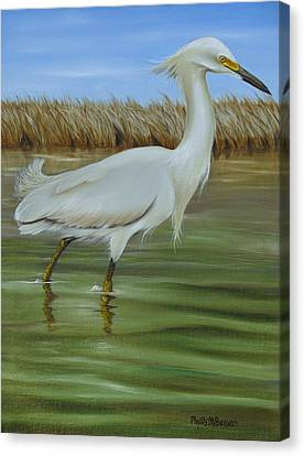 Snowy Egret 1 Canvas Print by Phyllis Beiser