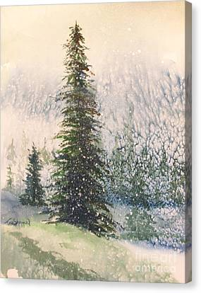 Canvas Print - Snowy Evergreens by Tina Sheppard