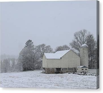 Winter White Farm Canvas Print