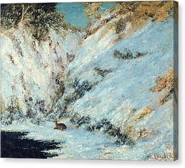 Snowy Landscape Canvas Print by Gustave Courbet