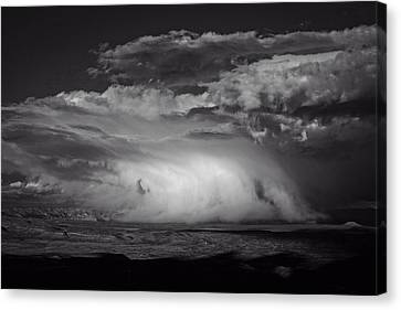 Canvas Print featuring the photograph Snowy Mix Storm Over The Verde Valley by Ron Chilston
