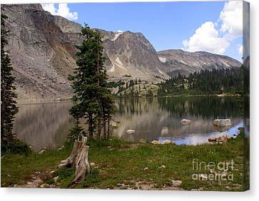 Snowy Mountain Loop 5 Canvas Print by Marty Koch