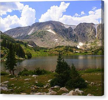 Snowy Mountain Loop 9 Canvas Print by Marty Koch