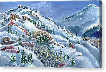 Snowy Mountain Road Canvas Print