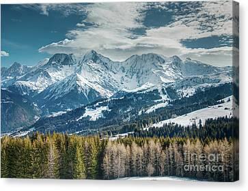 Snowy Mountains Canvas Print by Sasha Samardzija