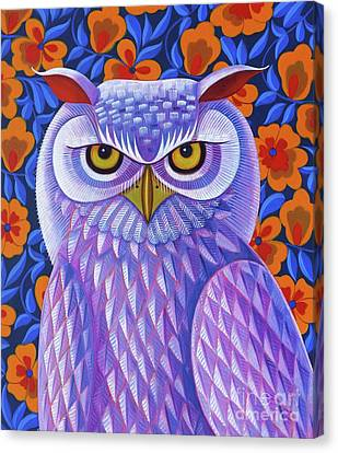 Bold Colors Canvas Print - Snowy Owl by Jane Tattersfield