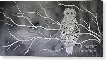 Snowy Owl Canvas Print by Preethi Mathialagan