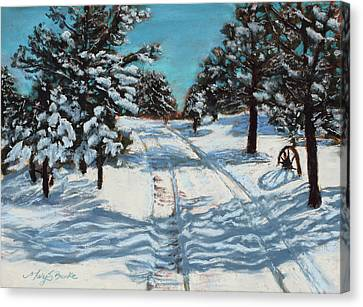 Snowy Road Home Canvas Print