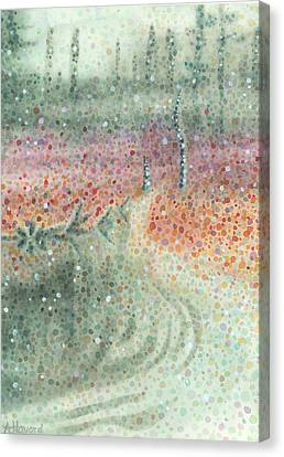 Snowy Swamp Canvas Print by Anne Havard