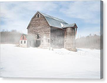 Snowy Winter Barn Canvas Print by Gary Heller
