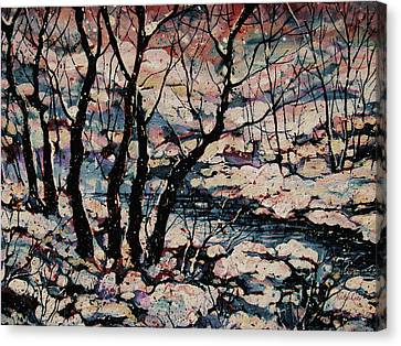Snowy Woods Canvas Print by Natalie Holland