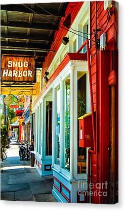 Snug Harbor Jazz Bistro- Nola Canvas Print