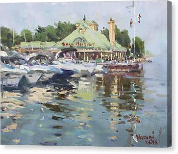 Snug Harbour Mississauga On Canvas Print by Ylli Haruni