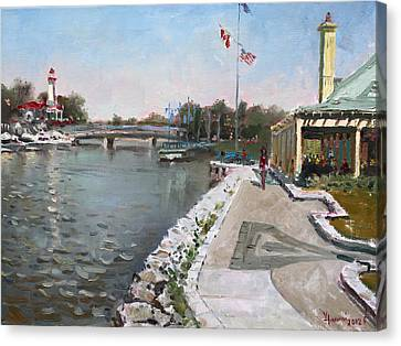 Snug Harbour Restaurant Canvas Print by Ylli Haruni