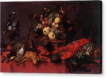 Snyders Frans Still Life With A Basket Of Fruit Canvas Print by Frans Snyders