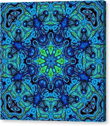 So Blue - 04v2 - Mandala Canvas Print